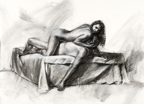 Kohlezeichnung, Zeichnung, Intime Distanzen, Figurative Zeichnung, Contemporary Realism, Couple, Paar, stefan_nuetzel