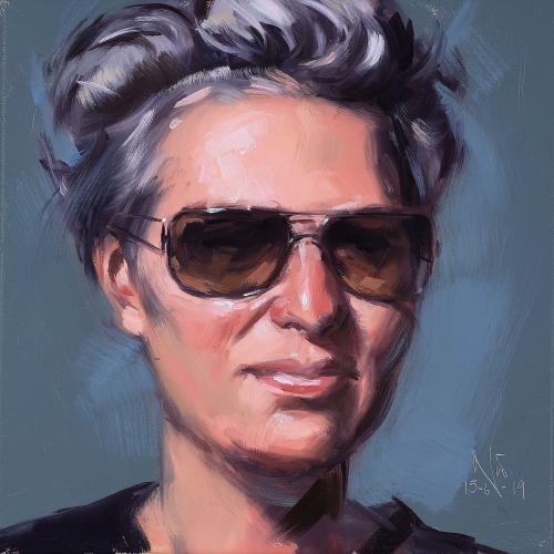 Portrait, Oilpainting, Comissioned portrait, Ölbild, Auftragsportrait, stefan_nuetzel, Birgit Vlk