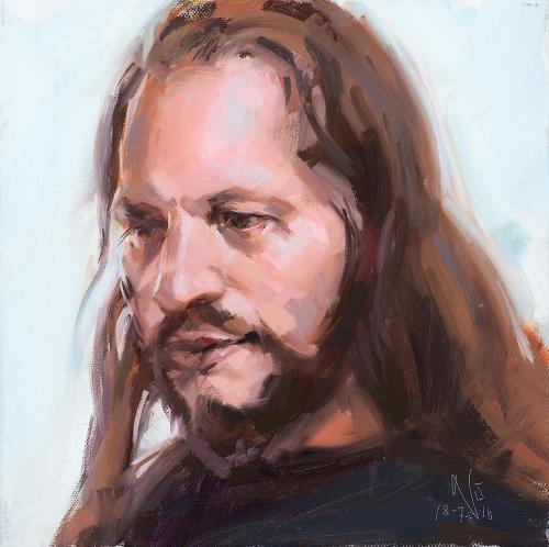 Portrait, Oilpainting, Comissioned portrait, Ölbild, Auftragsportrait, stefan_nuetzel, Erik Aspöck