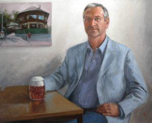 Portrait, Oilpainting, Comissioned portrait, Ölbild, Auftragsportrait, stefan_nuetzel, Karl Jan Kolarik