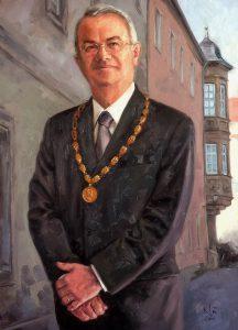 Portrait, Oilpainting, Comissioned portrait, Ölbild, Auftragsportrait, stefan_nuetzel, Dieter Mronz, Bürgermeister, Bayreuth