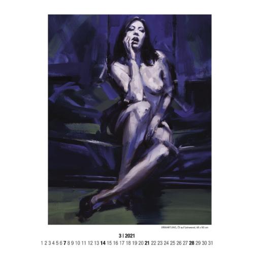 kalender, stefan_nuetzel, frauenakt, wien, aktmalerei